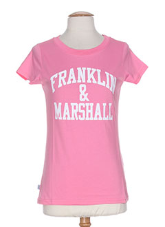 FRANKLIN MARSHALL T-shirt / Top ROSE Manche courte FEMME (photo)