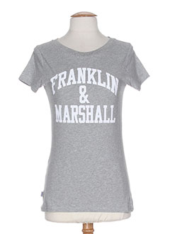 FRANKLIN MARSHALL T-shirt / Top GRIS Manche courte FEMME (photo)