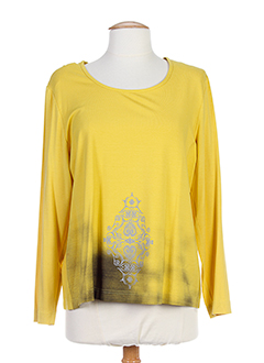 EUGEN KLEIN T-shirt / Top JAUNE Manche longue FEMME (photo)