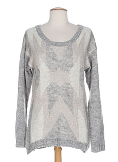 KAPORAL Pull GRIS Col rond FEMME (photo)