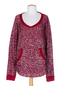 ROXY GIRL Pull ROUGE Col rond FEMME (photo)