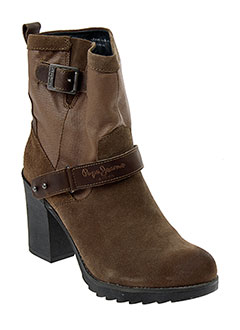 PEPE JEANS Chaussure MARRON Boot FEMME (photo)