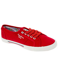 PEPE JEANS Chaussure ROUGE Basket FEMME (photo)