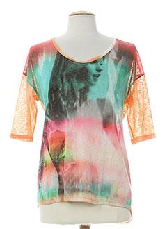 PAZ TORRAS T-shirt / Top ORANGE Manche courte FEMME (photo)