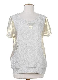 LA PETITE FRANCAISE T-shirt / Top GRIS Manche courte FEMME (photo)