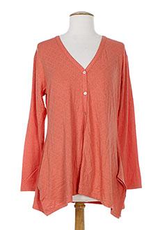 THE MASAI CLOTHING COMPANY Gilet ORANGE Cardigan FEMME (photo)