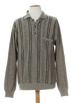 BANDE ORIGINALE Pull GRIS Col chemisier HOMME (photo)