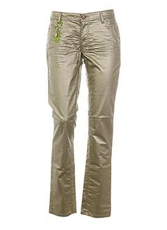 CKS Pantalon JAUNE Pantalon décontracté FEMME (photo)
