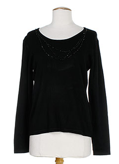GELCO Pull NOIR Col rond FEMME (photo)