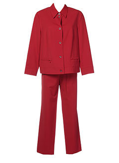 EUGEN KLEIN Ensemble ROUGE Pantalon/Veste FEMME (photo)