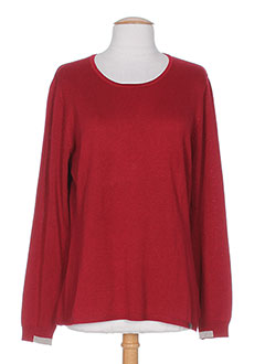 OPEN END Pull ROUGE Col rond FEMME (photo)