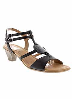 SWEET Chaussure NOIR Sandales/Nu pied FEMME (photo)