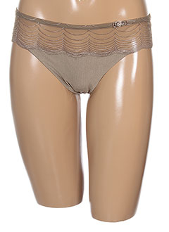 LOU Lingerie MARRON Strings/Tanga FEMME (photo)