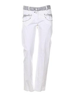 DIDIER PARAKIAN Pantalon BLANC Pantalon décontracté FEMME (photo)