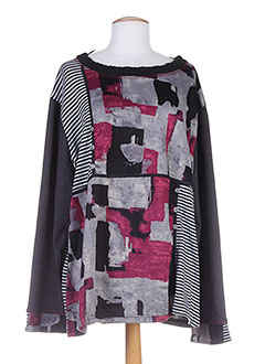 S.QUISE Pull NOIR Col rond FEMME (photo)
