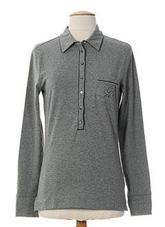 CERRUTI 1881 T-shirt / Top GRIS Polo FEMME (photo)