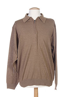 ENZO LORENZO Pull MARRON Col chemisier HOMME (photo)