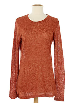ISABEL MARANT Pull ORANGE Col rond FEMME (photo)