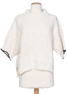 FORTE-FORTE Pull BLANC Col rond FEMME (photo)