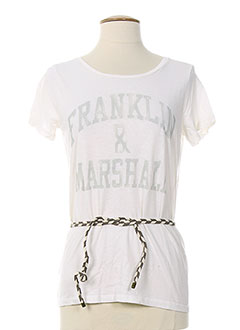FRANKLIN MARSHALL T-shirt / Top BLANC Manche courte FEMME (photo)