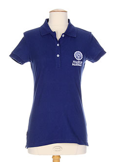 FRANKLIN MARSHALL T-shirt / Top BLEU Polo FEMME (photo)