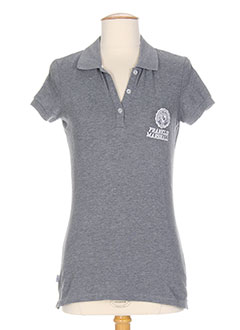 FRANKLIN MARSHALL T-shirt / Top GRIS Polo FEMME (photo)