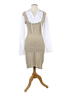 ZONE BLEUE Robe BEIGE Robe mi-longue FEMME (photo)