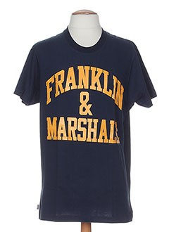 FRANKLIN MARSHALL T-shirt / Top BLEU Manche courte HOMME (photo)