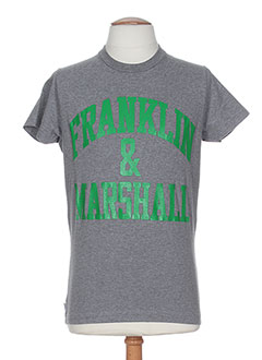 FRANKLIN MARSHALL T-shirt / Top GRIS Manche courte HOMME (photo)