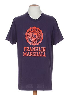 FRANKLIN MARSHALL T-shirt / Top VIOLET Manche courte HOMME (photo)