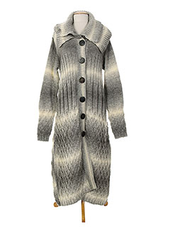 SAVE THE QUEEN Gilet GRIS Cardigan FEMME (photo)