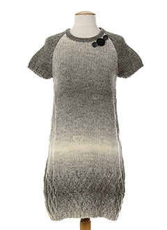 SAVE THE QUEEN Robe GRIS Robe pull FEMME (photo)