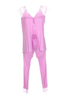 LUNA Lingerie ROSE Pyjama FEMME (photo)