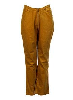 NID D'ABEILLE Pantalon JAUNE Pantalon citadin FEMME (photo)