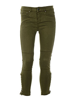 HOTEL PARTICULIER Jean VERT Jean coupe slim FEMME (photo)