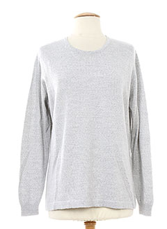 SWEET Pull GRIS Col rond FEMME (photo)