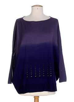 SAVE THE QUEEN Pull VIOLET Col rond FEMME (photo)