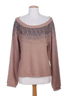 R 867 Pull ROSE Col rond FEMME (photo)