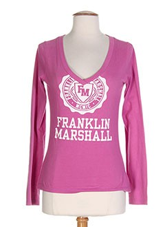 FRANKLIN MARSHALL T-shirt / Top ROSE Manche longue FEMME (photo)