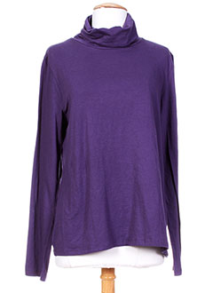 LE PHARE DE LA BALEINE T-shirt / Top VIOLET Sous-pull FEMME (photo)