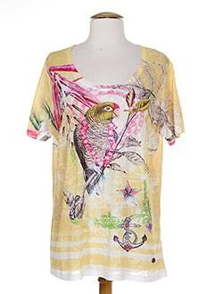 OPEN END T-shirt / Top JAUNE Manche courte FEMME (photo)