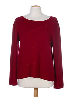 LUCCHINI Pull ROUGE Col rond FEMME (photo)