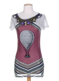 WHO'S WHO T-shirt / Top GRIS Top FEMME (photo)