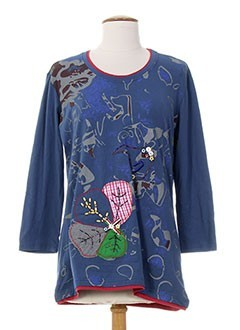 S.QUISE T-shirt / Top BLEU Manche longue FEMME (photo)
