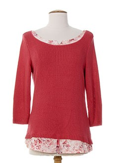 KALISSON Pull ROSE Col rond FEMME (photo)