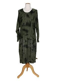 YANÜK Robe VERT Robe longue FEMME (photo)