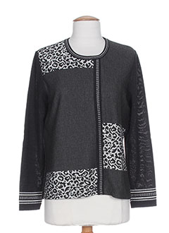 SAINT CHARLES Pull GRIS Col rond FEMME (photo)