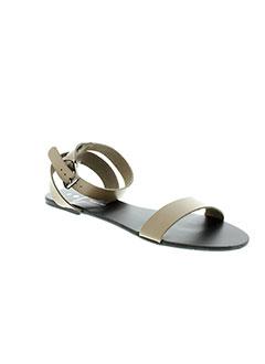 PIECES Chaussure MARRON Sandales/Nu pied FEMME (photo)