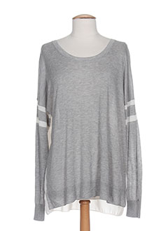 TOMMY HILFIGER Pull GRIS Col rond FEMME (photo)