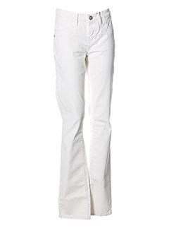 CKS Pantalon BLANC Pantalon décontracté FEMME (photo)